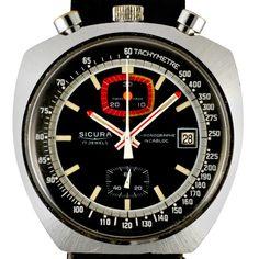 1974 Sicura Bullhead Chronograph by Timeline Watch