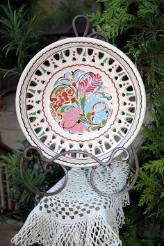 MHV Hódmezővásárhely Hungary Pierced Reticulated Majolica Folk Art Slipware Bowl | eBay