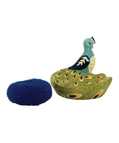 Another great find on #zulily! Peacock Scrubby Holder by Boston Warehouse #zulilyfinds
