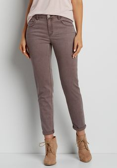 boyfriend pant in clove brown (original price, $44.00) available at #Maurices