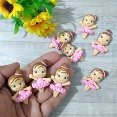 Polymer Clay Figures, Cute Polymer Clay, Polymer Clay Projects, Polymer Clay Charms, Clay Crafts, Clay Dolls, Art Dolls, Clay Magnets, Pastel Party