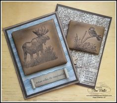 Hi! On my last post I shared a technique for Faux Leather, using versamark and clear embossing powder - this is my friend Michele's fav...