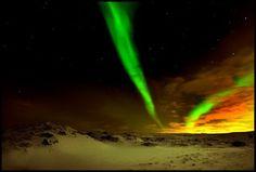 Aurora boreal: Suaves bandas