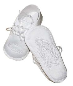Lauren Madison Baby boy Christening Baptism Special occasion Infant Hispanic boy Satin Shoes With 'Mi Bautizo' Embroidered On The Toe