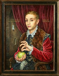 Boy with Apple by Van Hoytl made by Michael Taylor for the movie The Grand Budapest Hotel
