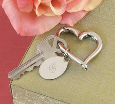Heart Key Ring w/Oval Charm: $15.95 #Bridesmaid #Wedding