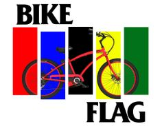 Motiv Electric Bikes and Bike Flag with UCI colors