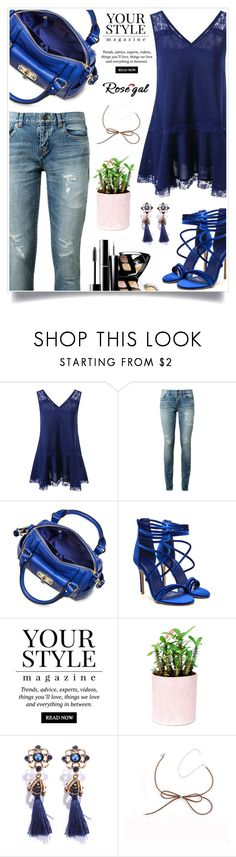 """""""Rosegal 87"""" by itsybitsy62 ❤ liked on Polyvore featuring Yves Saint Laurent, Merona, Chanel and Pussycat"""
