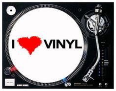 I Love Vinyl DJ Slip mats (PAIR) | DJ4DJ