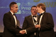 Gary & Tom recieveing the award for 'Supplier of the Year' at The Negotiator Award 2014 #Winners #Supplier #EstateAgents #TheNegotiator #ParkLane #GoldAward