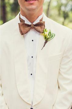 Rustic groom attire. Photo by Ginny Corbett Photography. www.wedsociety.com #wedding #bout #bowtie