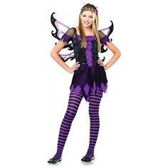 GSG Amethyst Fairy Costume Teen Junior Tween Dark Gothic Halloween Fancy Dress