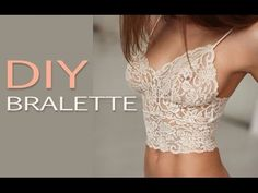 DIY Lace Bralette, Шьем кружевной лиф, My Crafts and DIY Projects