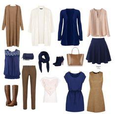 Капсульный гардероб Осень 15 вещей Navy and Toasted Almond Ivory Capsule Wardrobe
