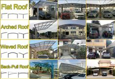 Different #metalshelter #carport styles, which one you would choose? #patio #porch #balconycover #backyardcover #backyardfun #doublecarport #doublecover #shelter #awning #polycarbonate #shade #gazebo #stadium#canopy #dome #outdoorspace #outdoorspacedesign #aluminumalloy #archeture #aesthetic #carparking #carpark  https://www.sunshielder.com/different-styles-metal-carport-ideas/
