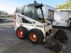 This 1990 Bobcat 843 Skid Steer is coming up for auction right in time for snow season!