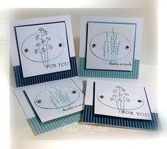 3 x 3 Note Cards by nitestamper on Etsy