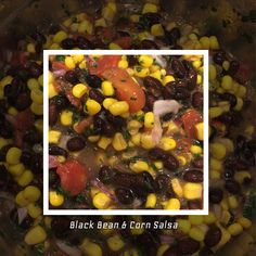 My Healthy & Easy Black Bean Corn Salsa Dip - Organic . . 1/2 small poblano chile pepper 1/2 cup diced oregano/basil seasoned tomatoes  1 teaspoon of Kosher salt 1 cup fresh corn kernels (from 2 ears), or 1 cup of organic canned 1 cup of low sodium black beans 1 small jalapeno pepper, seeded and chopped 2 tablespoons chopped fresh cilantro 2 tablespoons chopped red onion 1/2 bottle of Organic Italian dressing (must be zesty)