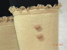 Soft Tan Ruffle Leg Warmers by FeelingGypsy on Etsy, $12.00