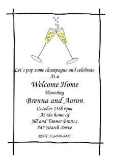 35 Best homecoming party invitations / welcome home party