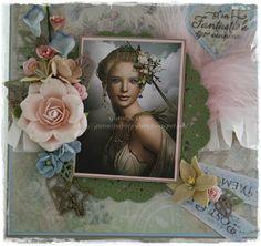 Til en fantastisk venninne, card, kort, scrapbooking, scrapbook, vintage, friend, Maja Design, papir, paper