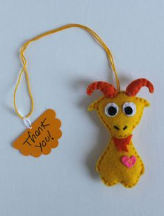 Stuffed felt Goat ornament  Party Favor Key Chain by EndlessFeltMagic, $9.00