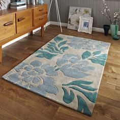 Hong Kong 33-L Beige Blue Rug By Think Rugs 2