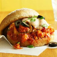 Sloppy Pizza Joes Recipe - Indulge in the flavors of pizza without eating a ton of carbs. These easy-fix sandwiches feature only six ingredients and are kid-approved.