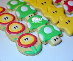 Super Mario Bros decorated cookies