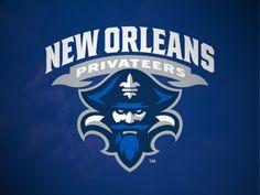 New Orleans Privateers Alternate Logo on Chris Creamer's Sports Logos Page - SportsLogos. A virtual museum of sports logos, uniforms and historical items. Logo Branding, Branding Design, Sports Team Logos, Education Logo, American Sports, Great Logos, Game Logo, Logo Sticker, Cool Logo