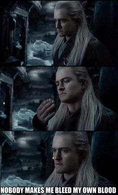 Oh, Legolas. That's what I was thinking he was thinking. My gosh he's so incredibly hot.
