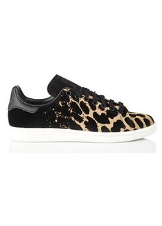 Baskets Stan Smith en cuir motif léopard Noir by ADIDAS