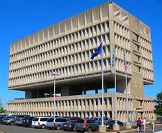 Armstrong Rubber Company Building (The Pirelli Tire Building, Connecticut, USA. Architect: Marcel Breuer & Robert f Gatje,