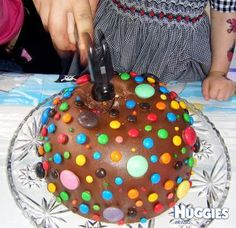 Pinyata cake for Charles. I think i'll do lollies and cake balls inside and actually let him smash it with a hammer!