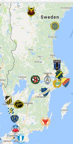 Sweden Map, Fifa, European Soccer, Soccer Fans, Liverpool Fc, Logo Inspiration, Team Logo, Sports, Badges