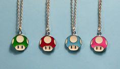 Mario Mushroom Necklace by candycarouseljewels