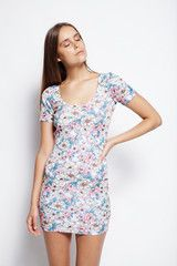 Lioness - Anime bodycon - Floral $55