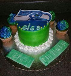 Sea Hawks birthday cake