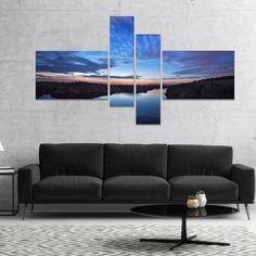DESIGN ART Designart 'Clouds Reflection in River' Landscape Photography Canvas Print