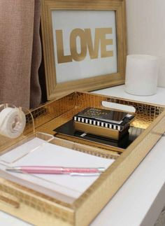Use a tray to keep everything organized.