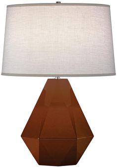 "Robert Abbey Delta Cinnamon 22 1/2"" High Table Lamp | LampsPlus.com"