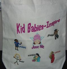 Canvas Tote Bags Kid Babies Chatter by KidBabies on Etsy, $15.95
