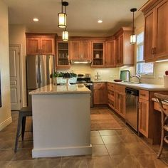 Kitchen Ideas Maple Cabinets honey maple kitchen cabinets with natural maple island | coffee