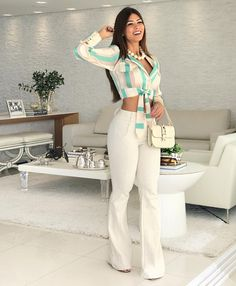 15 women's clothing jumpsuits and pants - Bilder Land Fashion Pants, Girl Fashion, Fashion Dresses, Fashion Beauty, Womens Fashion, Classy Outfits, Casual Outfits, Cute Outfits, Feminine Style