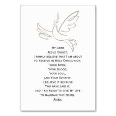 Communion Dress Prayer Cards Business Card Template Communion - Prayer card template