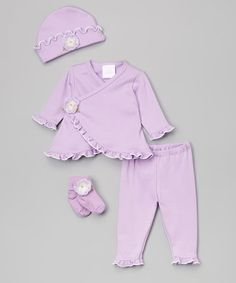Another great find on #zulily! Lavender & Cream Take Home Set - Infant #zulilyfinds