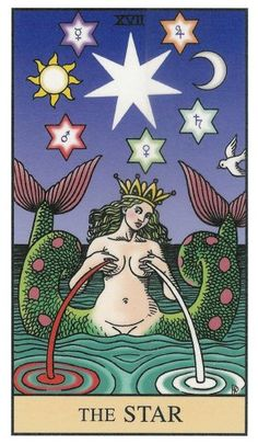 The Star, from Robert M. Place's Alchemical Tarot