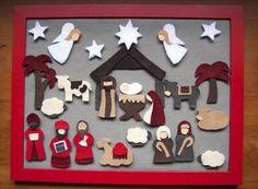 full nativity felt advent