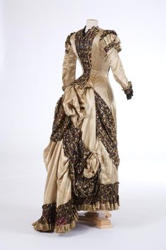 Evening dress ~ (1870's)