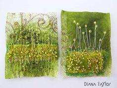 Moss Garden teabag art by Velvet Moth Studio